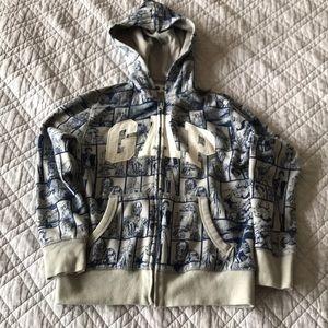 Gap kids Star Wars, zip up hoodie size M